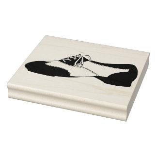 Black Tapdance Oxford Tap Dance Shoe Teacher Rubber Stamp
