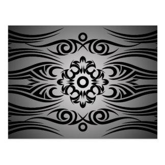 Black Tattoo Tribal 1 | black fadeIN Postcards