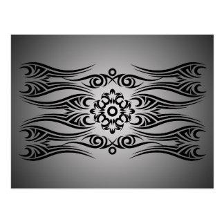 Black Tattoo Tribal 1 | black fadeIN Postcard