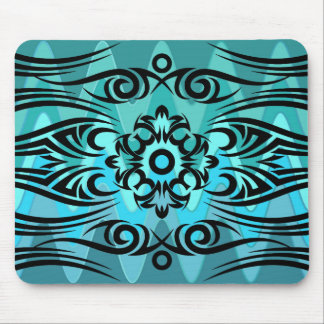 Black Tattoo Tribal 1 | sinus ocean Mouse Mat