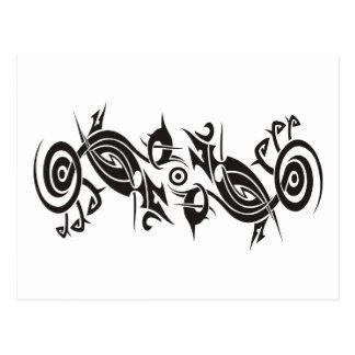Black Tattoo Tribal 2 Post Cards