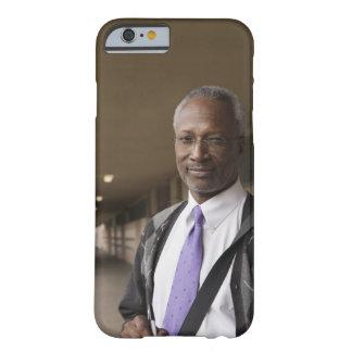 Black teacher standing in school corridor barely there iPhone 6 case