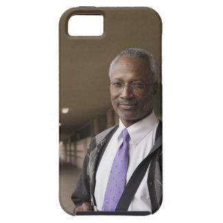 Black teacher standing in school corridor iPhone 5 case