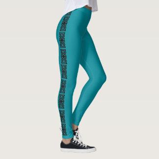 Black Teal Aztec Stripe 4rhonda Leggings