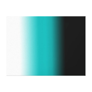 Black Teal White Ombre Canvas Print