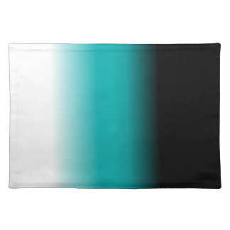 Black Teal White Ombre Placemat