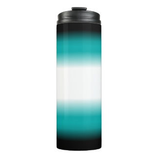 Black Teal White Ombre Thermal Tumbler