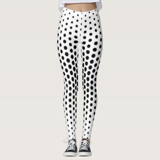 Black Techno Dot Pattern Leggings
