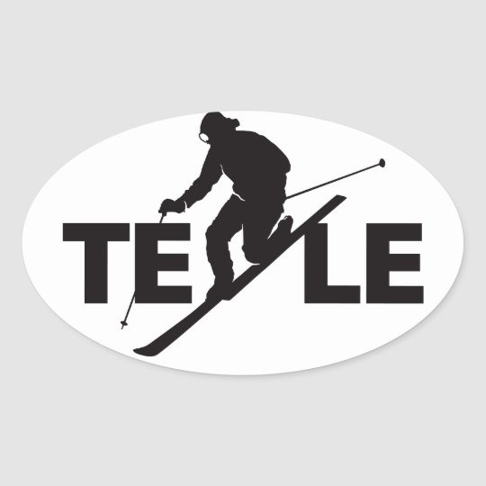 Black TELE Logo Sticker