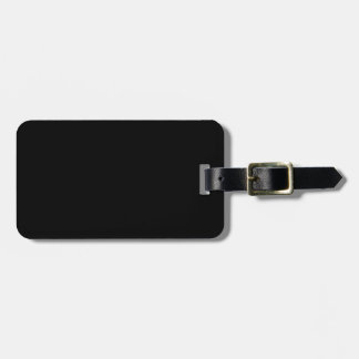 Black Template Luggage Tag
