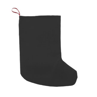 Black Template Small Christmas Stocking