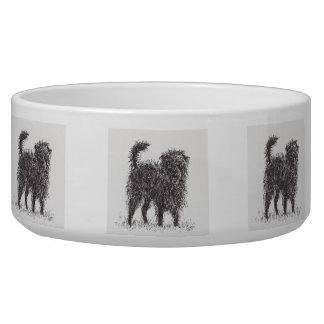 Black Terrier Dog Bowl