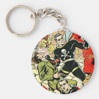 Black Terror Comic Keychains