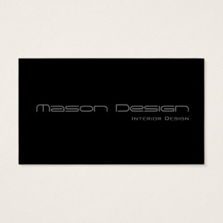 Black Text Only Modern Minimalistic Business Card