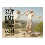Black Text over Photo Save the Date Postcard