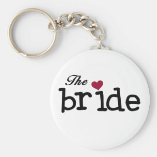 Black Text The Bride Tshirts and Gifts Keychain