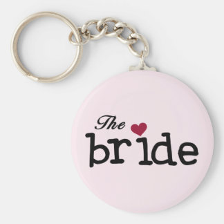 Black Text The Bride Tshirts and Gifts Keychains