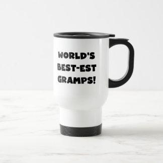 Black Text World's Best-est Gramps Gifts Stainless Steel Travel Mug