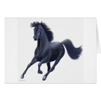 Black Thoroughbred Horse Card