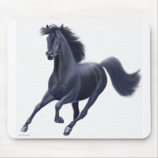 Black Thoroughbred Horse Mousepad
