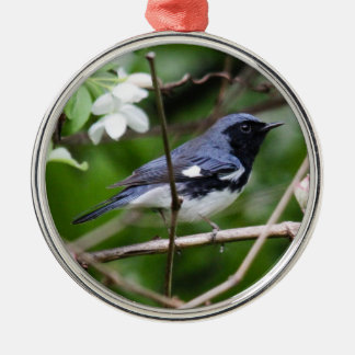 Black-throated Blue Warbler Christmas Ornament