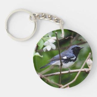 Black-throated Blue Warbler Key Ring