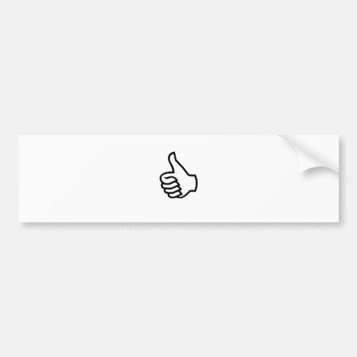 Black Thumbs Up Bumper Sticker
