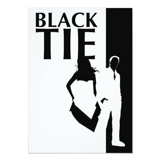 black tie affair : man & woman silhouettes