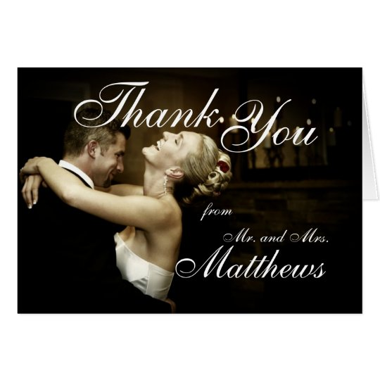 Black Tie Affair Wedding Photo Thank You Cards