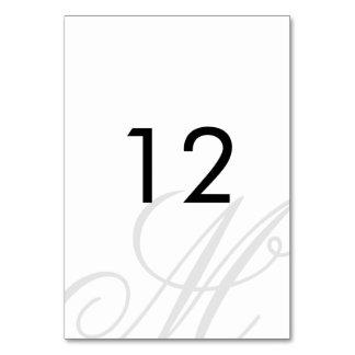 Black Tie   Black White   Table Number