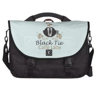 Black tie caffe latte bag for laptop