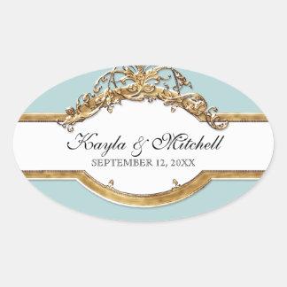 Black Tie Elegance 2, Golden Matching Sticker Seal