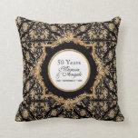 Black Tie Elegance 2, Golden Wedding Anniversary Throw Pillow