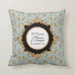 Black Tie Elegance 2, Golden Wedding Anniversary Pillows