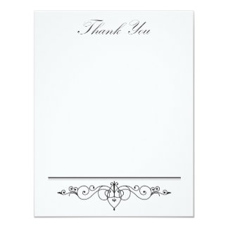 Black Tie - Elegant - Simple - Wedding - Thank You Card
