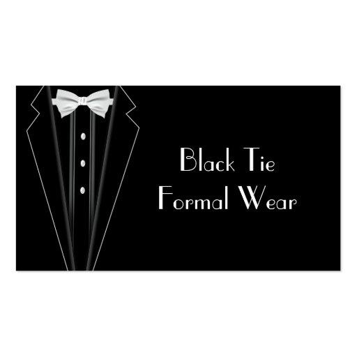 Black Tie Formal Tuxedo Business Business Card Template