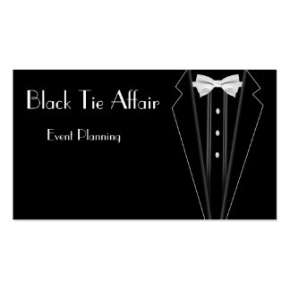 Black Tie Formal Tuxedo Event Planning Pack Of Standard Business Cards