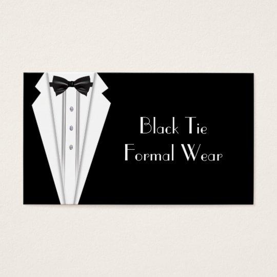 Black Tie Formal White Tuxedo Business Business Card