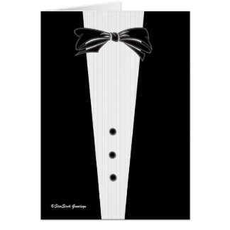 Black Tie Invitation, Best Man Card
