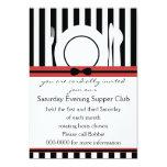 "Black Tie Supper Club 5"" X 7"" Invitation Card"
