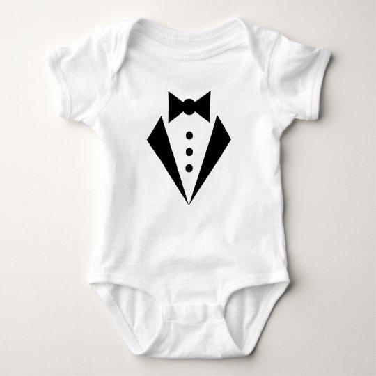 Black TIE Tuxedo Cute Little Baby Bodysuit