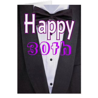 Black tie tuxedo happy birthday card