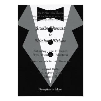 Black Tie Wedding 13 Cm X 18 Cm Invitation Card