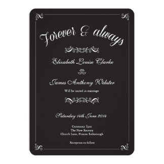 Black Tie Wedding Invitiation 13 Cm X 18 Cm Invitation Card
