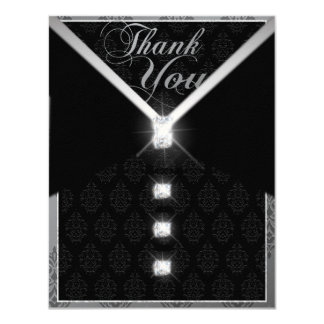 Black Tie Wedding Thank You Card