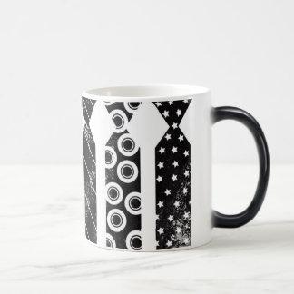 Black Ties Morphing Mug