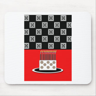 Black Tile Birthday Cake Mouse Pad