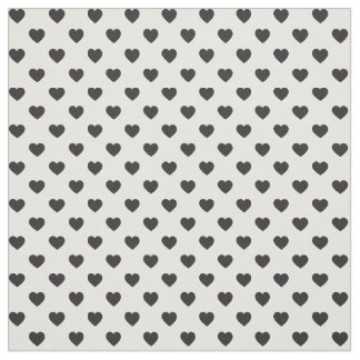 Black Tiny Heart Pattern Fabric