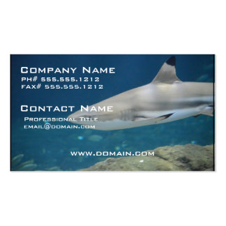 Black Tipped Shark Swimming Underwater Pack Of Standard Business Cards