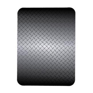Black to Bright Steel Fade Diamondplate Background Magnet